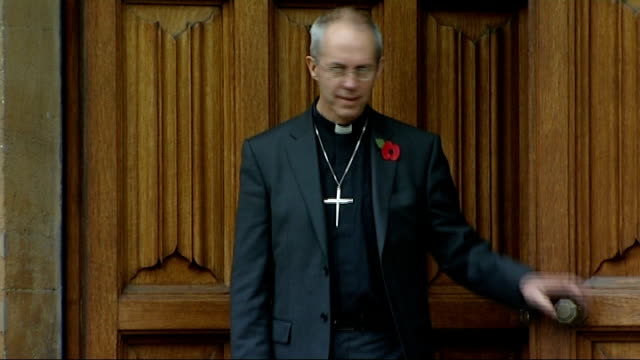 archbishop of canterbury reflects on issue of women bishops in christmas sermon lib / lambeth palace photography** the right reverend justin welby... - カンタベリー大主教点の映像素材/bロール