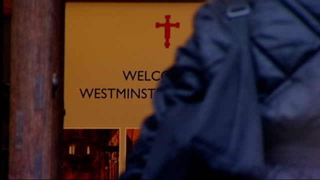 archbishop of canterbury reflects on issue of women bishops in christmas sermon westminster westminster cathedral ext christmas tree outside... - westminster cathedral stock videos & royalty-free footage