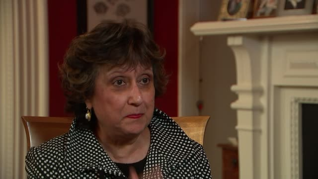 archbishop of canterbury says worrying about migration is not racism; england: london: int alibhai-brown interview continues sot - archbishop of canterbury stock videos & royalty-free footage