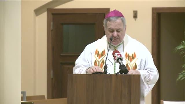 archbishop robert carlson in st louis missouri on nov 24 2014 - archbishop stock videos & royalty-free footage