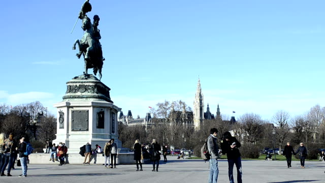 archduke charles statue - the hofburg complex stock videos & royalty-free footage