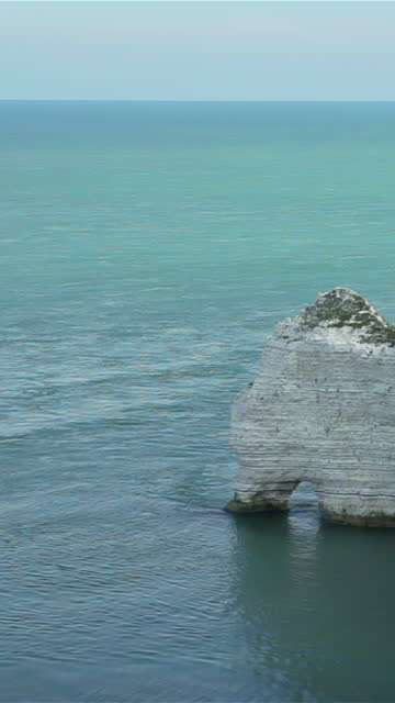 arche d'etretat in normandy - france - allied forces stock videos & royalty-free footage