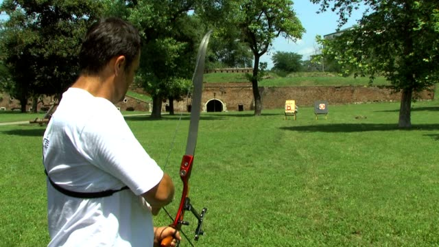 archery at the fortress dm - bow and arrow stock videos and b-roll footage