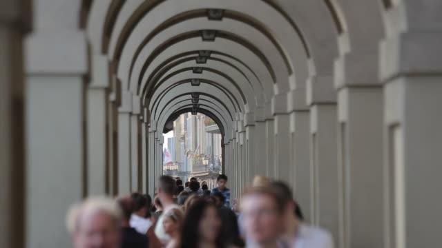 Arches beneath the Vasari Corridor, Florence, Tuscany, Italy, Europe
