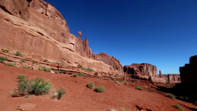arches national park clip - red rocks stock videos and b-roll footage