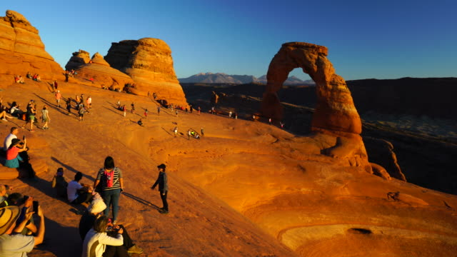 arches national park, utah, usa, north america, america - natural arch stock videos & royalty-free footage