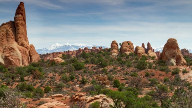 arches national park, utah - sandstone stock videos & royalty-free footage