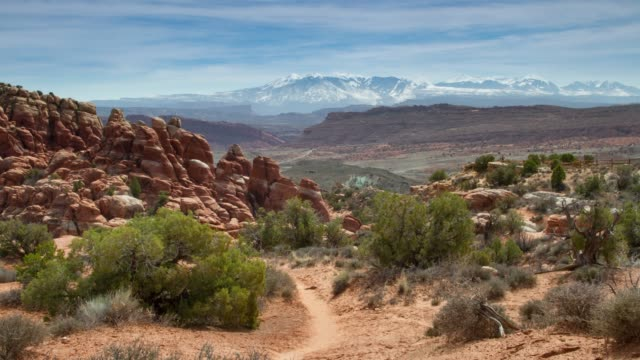 arches national park, utah - moab utah stock videos & royalty-free footage