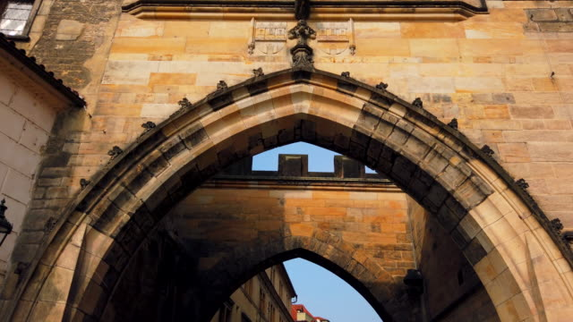 arches of charles bridge - charles bridge stock videos & royalty-free footage