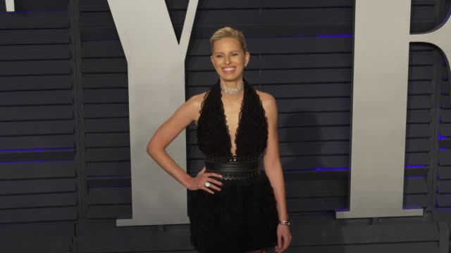 archie drury and karolína kurkova at 2019 vanity fair oscar party hosted by radhika jones at wallis annenberg center for the performing arts on... - karolina kurkova stock videos and b-roll footage