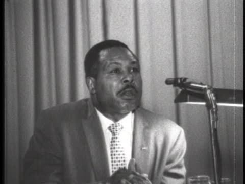 stockvideo's en b-roll-footage met archie moore addresses the 1962 convention - sport