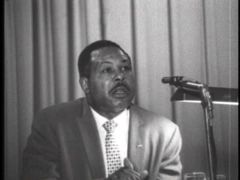 archie moore addresses the 1962 convention - sport stock-videos und b-roll-filmmaterial