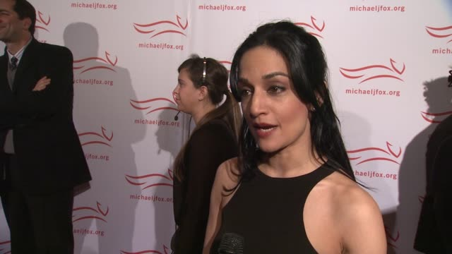 archie panjabi says a friend was diagnosed with parkinson's and how michael j fox has inspired her at the 2011 a funny thing happened on the way to... - michael j. fox stock videos and b-roll footage