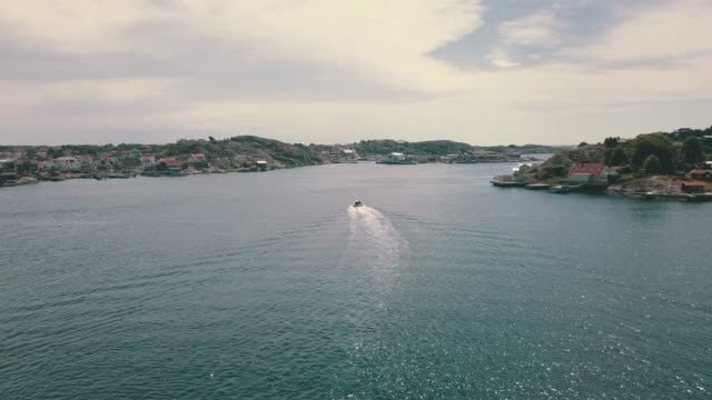 archipelago aerial over water - nautical vessel stock videos & royalty-free footage