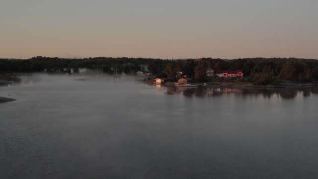 WS POV Archipelago during sunrise / Stockholm, Sweden