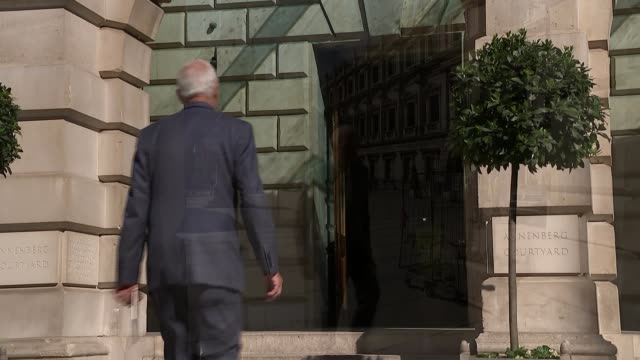 architect david chipperfield interview on royal academy expansion ext reporter along in courtyard - courtyard stock videos and b-roll footage