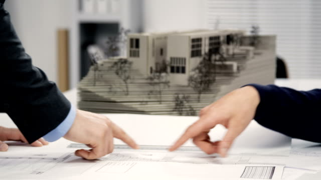 建築家握手 - レプリカ点の映像素材/bロール