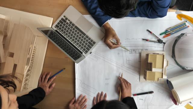 Architect team working