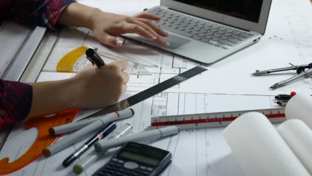 Architect working in Office