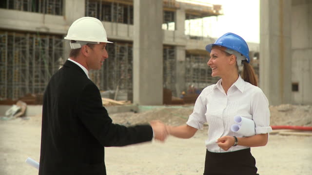 hd: architects - building contractor stock videos & royalty-free footage