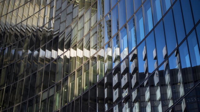 architectural abstract of modern office building - time lapse - architecture stock videos & royalty-free footage