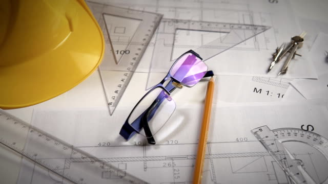 architectural blueprints - work tool stock videos & royalty-free footage