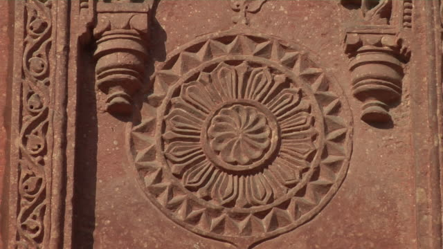 stockvideo's en b-roll-footage met cu, zo, architectural detail, agra fort, agra, uttar pradesh, india - 16e eeuwse stijl