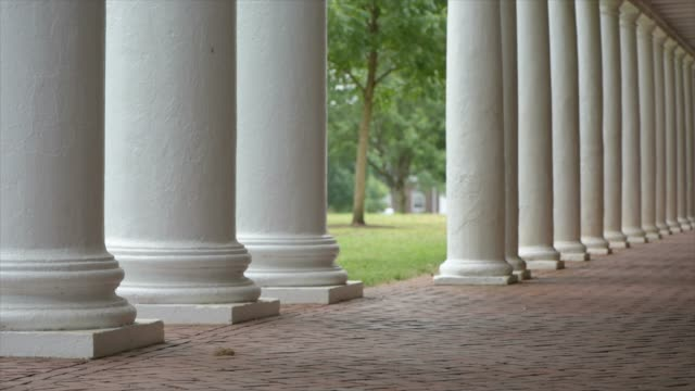 Architectural detail in the Jeffersonian style that characterizes The Lawn at the University of Virginia the architectural centerpiece on grounds
