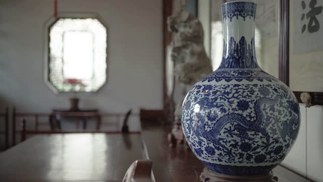 architectural details in chinese classical garden,suzhou,china. - vase stock videos & royalty-free footage