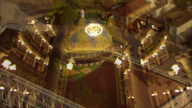 architectural features of teatro amazonas - manaus stock videos and b-roll footage