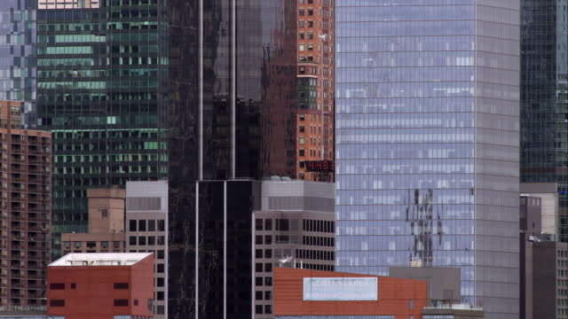 architectural grouping of buildings on the west side of manhattan. - curtain wall facade stock videos and b-roll footage