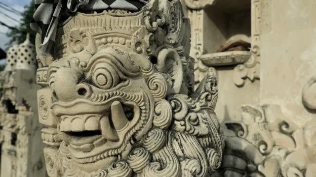 Architectural Hindu sculpture in a Bali temple in Indonesia