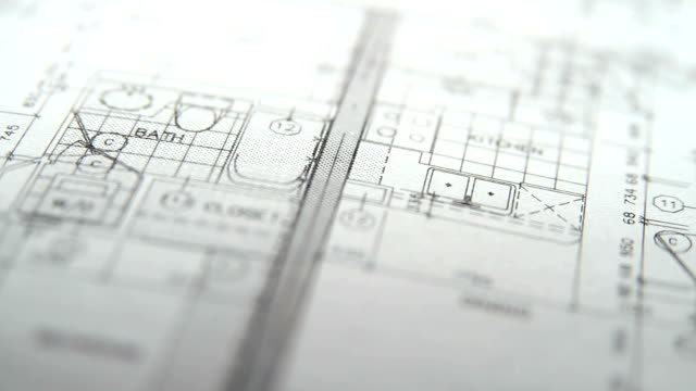 Architektonische Pläne-pan-von links nach rechts