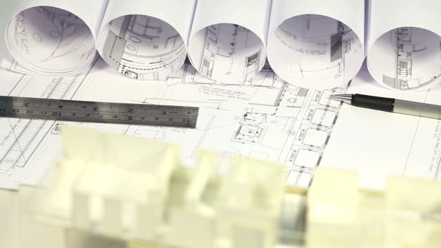 architecture and blue prints - architectural model stock videos & royalty-free footage