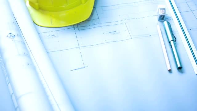 建築設計図 - 工業技術点の映像素材/bロール