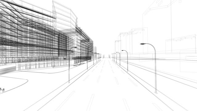 建築設計図 - 設計図点の映像素材/bロール