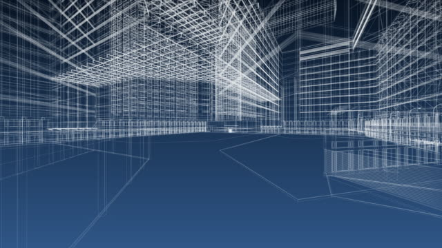 architecture blueprint - three dimensional stock videos & royalty-free footage