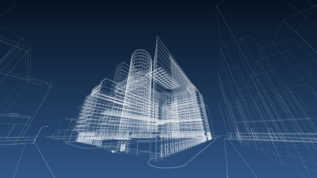 architecture blueprint - digitally generated image stock videos & royalty-free footage