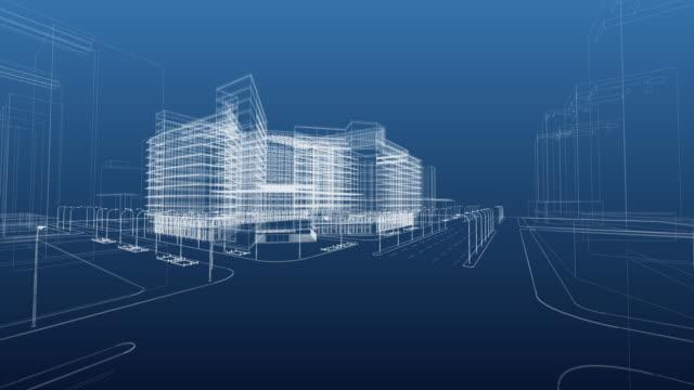 vídeos de stock e filmes b-roll de arquitetura cópia heliográfica - shopping centre