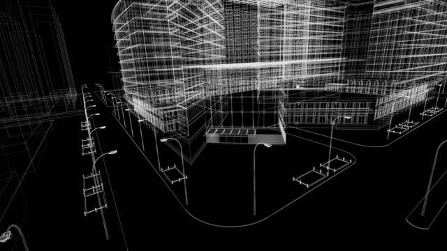 stockvideo's en b-roll-footage met het platform blauwdruk - wire frame model