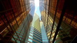 Architecture construction futuristic building. Office buildings