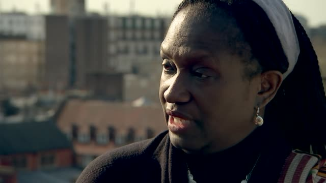 elsie owusu campaigning to lead industry body in protest of institutional racism and sexism england london ext long shot london skyline long shot... - sex discrimination stock videos & royalty-free footage