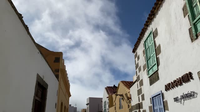 architecture famous buildings facades of the city of la palma de gran canarias sunny day historic buildings - spanish culture stock videos & royalty-free footage