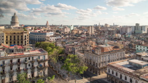architecture from an elevated view near the malecon, havana, cuba - latin america stock videos & royalty-free footage