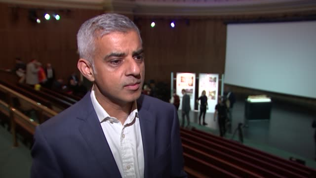 Holocaust memorial design announced interviews ENGLAND London Kensington Victoria and Albert Museum INT Sadiq Khan interview SOT / Natasha Kaplinsky...