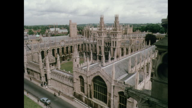 montage architecture in christ church college in oxford / united kingdom - oxford england video stock e b–roll