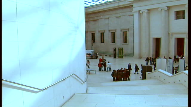 lord foster project to encourage schoolchidren understand architecture; england: london: british museum: int sequence architect lord foster showing... - british museum stock videos & royalty-free footage