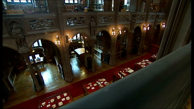 manchester's john rylands library reopens after extensive refurbishment england manchester university of manchester john rylands library ext * * harp... - harp stock videos & royalty-free footage