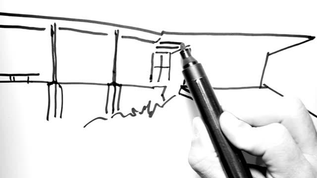 architektur auf papier - pferch stock-videos und b-roll-filmmaterial
