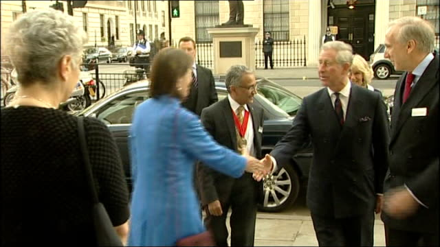 prince charles chelsea barracks architecture row england london ext prince charles prince of wales and camilla duchess of cornwall arriving at royal... - barracks stock videos and b-roll footage